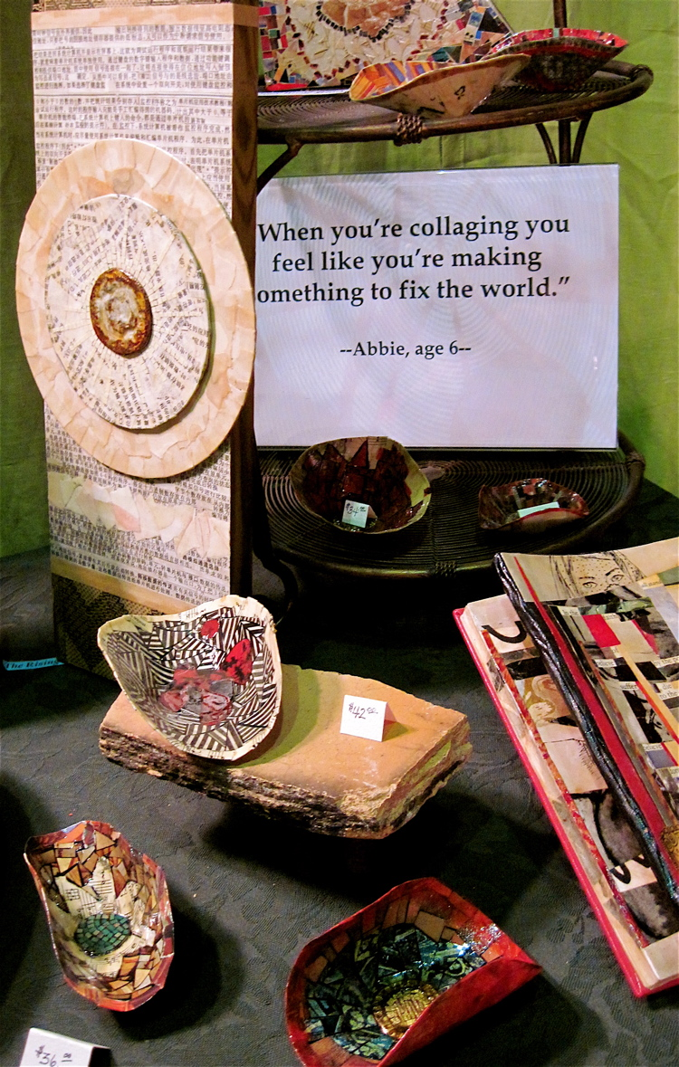 A detail from my booth at the Berkshire Crafts Fair, Great Barrington, Massachusetts, August 2011.